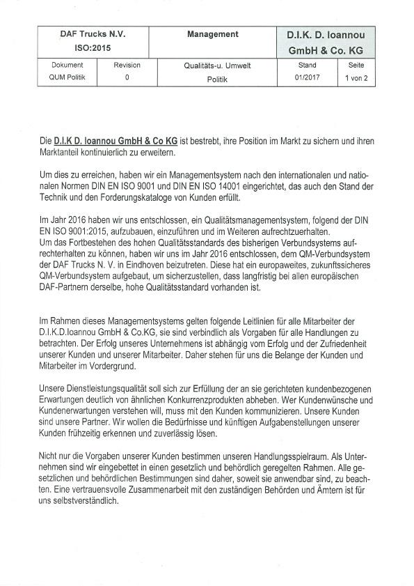 DAF LKW-Kompetenz-Zentrum Händler Märkischen Kreis